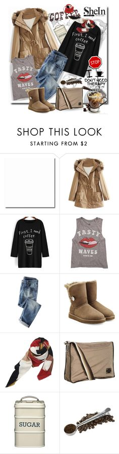 """SheIn Black Print Long T-Shirt"" by wanda-india-acosta ❤ liked on Polyvore featuring мода, WithChic, Billabong, Wrap, UGG Australia, Therapy, Fendi, women's clothing, women's fashion и women"