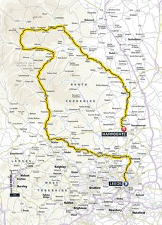 STAGE 1, Saturday 5th July 2014 Leeds to Harrogate: 190KM Leeds - Harewood - Otley - Ilkley - Skipton - Kettlewell - Aysgarth - Hawes - Reeth - Leyburn - Ripon - Harrogate