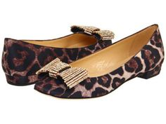 Kate Spade leopard bow shoes