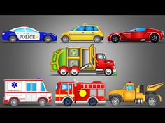 Street Vehicles | LearnIng Vehicles | Car Cartoon | Video For Kids - YouTube