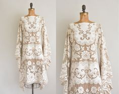 vintage 1970s dress / bohemian lace wedding dress // this is amazing....!!