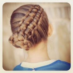 How to Create a Zipper Braid.  Video tutorial from Cute Girls Hairstyles. #CGHZipperbraid #Updos