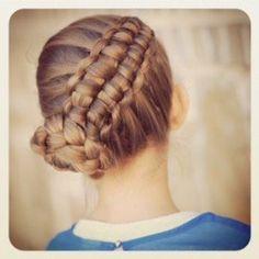 How to Create a Zipper Braid.  Video tutorial from Cute Girls Hairstyles. #CGHZipperbraid #Updos