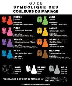 guide de la symbolique des couleurs mariage