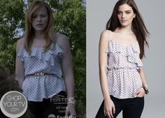 Shop Your Tv: Switched at Birth: Season 2 Episode 15 Daphne's Ruffled Cami
