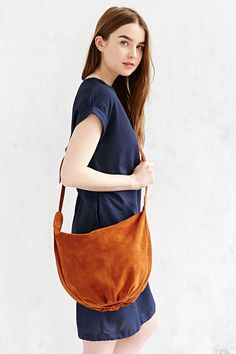 Ecote Knotted Suede Hobo Bag