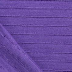 Royal Purple Mini Ruffle Stripe Cotton Jersey Knit Fabric :: $6.00