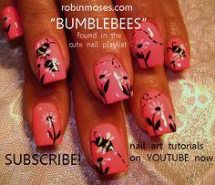 Bumblebees. #nails #design