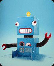 Free papertoy robot printables.