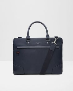 Cross grain document bag - Navy | Bags | Ted Baker UK