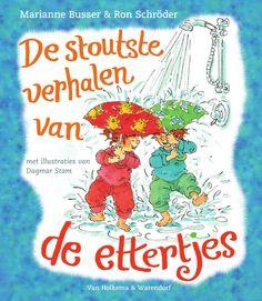 Af en toe doken de ettertjes op in de verhalenbundels van Marianne Busser en Ron Schröder, en nu krijgen ze een eigen boek!  Flop en Fladdertje zijn zo stout dat ze de ettertjes worden genoemd. Ze maken een schuimfontein in de vijver van de buurman, verkopen zomaar spulletjes uit het huis en wassen hun voeten in de wc-pot. Tante Door krijgt gewoon grijze haren van die twee…