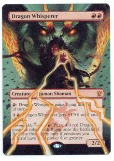 Handpainted Altered Art Dragon Whisperer...