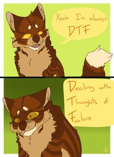 I think this is Brambleclaw,but I'm not sure. Warrior Cats Comics, Warrior Cats Funny, Warrior Cat Memes, Warrior Cats Fan Art, Warrior Cats Series, Warrior Cats Books, Warrior Cat Drawings, Cat Comics, Warriors Memes