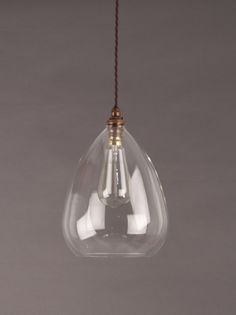Wellington Clear Glass Pendant Light Clear Glass Tiles For Necklaces