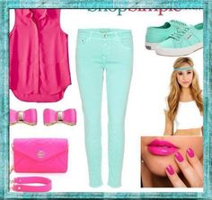 Pop of color!! Mix those Mint Greens and Hot Pink!!