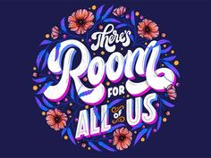 There is Room for All of Us by Olga Muzician on Dribbble Modern Typography, Graphic Design Typography, Lettering Design, Logo Design, Hand Lettering Quotes, Typography Quotes, Typography Letters, Game Design, Letras Cool