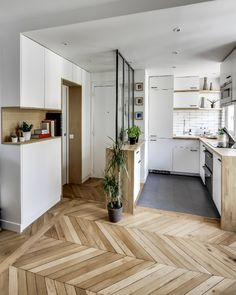 138 Awesome Scandinavian Kitchen Interior Design Ideas - Home Decorations Apartment Decoration, Small Apartment Decorating, Apartment Ideas, Apartment Layout, Apartment Makeover, Tiny Spaces, Small Apartments, Studio Apartments, Awesome Apartments