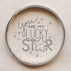 You Are My Lucky Star free embroidery pattern // wild olive