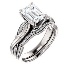 1.5 Ct Emerald #Diamond #Engagement #Ring #14k #WhiteGold – Goldia.com