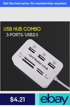 #eBayUsb Hubs Computers/Tablets & Networking Usb Hub, Card Reader, All In One, Computers, Cards, Ebay, Maps, Playing Cards