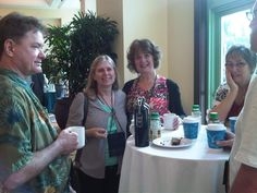 Bonnie Reisland and friends at morning coffee - PRO Summit Week