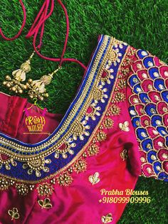 Patch Work Blouse Designs, Best Blouse Designs, Wedding Saree Blouse Designs, Maggam Work Designs, Pattu Saree Blouse Designs, Simple Blouse Designs, Cut Work Blouse, Stone Work Blouse, Embroidery Blouses