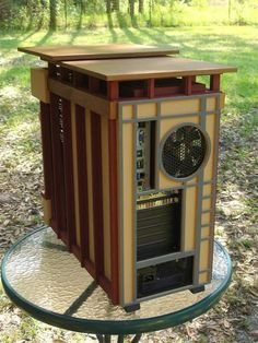 PC modding takes an architectural twist with Frank Lloyd Wright-inspired Usonian Wood Computer Case, Custom Computer Case, Computer Cover, Gaming Pc Build, Computer Build, Diy Pc, Console, Usonian, Raspberry Pi Projects