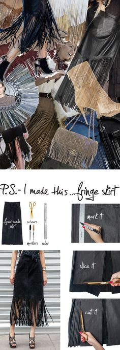Diy fringe skirt (in English) Flecos, una tendencia hot de otoño DIY