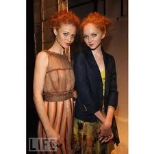 Two of the most recognizable and successful natural redheaded models in fashion today would have to be Brazilian model Cintia Dicker, known for her red hair and freckles, and British model Lily Cole, who stands out not only for her natural red hair, but also for her doll like features. Cintia and Lily are each beautiful and unique in their own ways-Probably two of my favorite models because they represent a rare quality which not everyone appreciates or finds beautiful, having red hair
