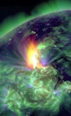 solar storm January 2012