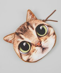 Take a look at the Brown Tabby Coin Purse on #zulily today!