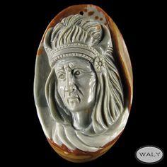 Carved American Indian Succor Creek Jasper Bead | eBay