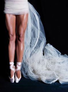 White pointe shoes !