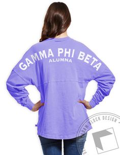 Gamma Phi Beta - Alumna Crest Derby Jersey (Lavender)  by ABD BlockBuy! Just $35 each plus shipping until April 30 | Adam Block Design | Custom Greek Apparel & Sorority Clothes | www.adamblockdesign.com