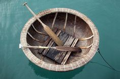 Floating nutshell - Vietnam The Vietnamese/Asian version of the coracle is made…
