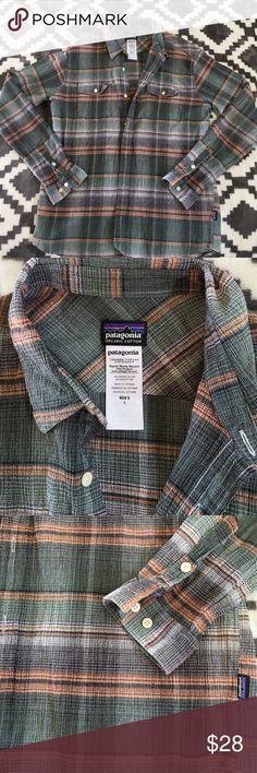 Patagonia long sleeve shirt Organic cotton men's L in great shape, button up Patagonia long sleeve Patagonia Shirts Tees - Long Sleeve