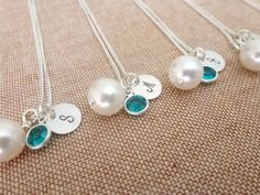 """Perfect Bridesmaid Gift!  Something a little more """"simple"""" perhaps than the locket...these are the Origami Owl """"Tagged"""" line."""