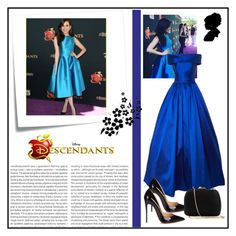 """""""sofia carson"""" by acro2005 ❤ liked on Polyvore featuring Disney, Christian Louboutin, Serpui, Oris and Post-It"""