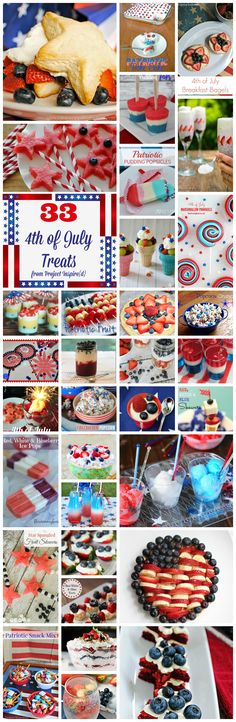33 Red, White and Blue, 4th of July, Patriotic Desserts and  Treats.  |holidays| |patriotic| |4th of July| |summer desserts| |grilling| |holidays| cupcakesandcrinoline.com