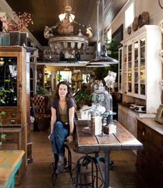 """I live in an 1860s farmhouse, drive a '56 Ford pickup, and bring my dog to work every day,"" says Alex Cirimelli by way of explaining her 2003 cross-country move from San Francisco, where she served as a buyer for a high-end interior design firm. ""I'm still in the business of design and buying, but it's for my own shop."""