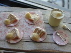 Dollhouse miniature cake and ice cream by Kimsminibakery on Etsy