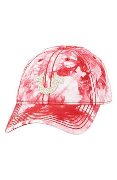 True Religion Brand Jeans Marble Dye Baseball Cap available at  Nordstrom  Winter Hats cb6ba77be749