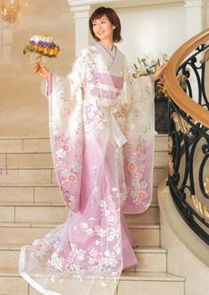 kimono accent wedding dress - Google Search