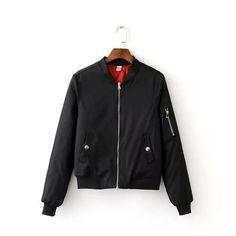 New winter zipper padded women bomber jacket black blue pink gray armygreen