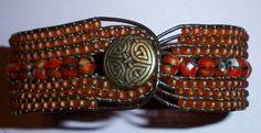 Five+and+Seven+Row+Leather+Bracelet+Tutorial+PDF++door+4petessake,+$10,00