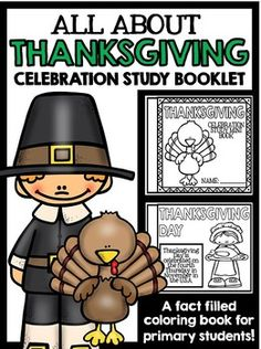 {Thanksgiving, thanksgiving, Thanksgiving reading, Thanksgiving writing, Thanksgiving center, Thanksgiving activity, Thanksgiving craft, Thanksgiving facts, Thanksgiving mini book, Pilgrims, pilgrims, turkey, holiday, celebration}All About Thanksgiving: A Fact Filled Mini Booklet for the Primary Grades!Topic: ThanksgivingLevel: Primary GradesType: Mini BookThis mini book is a great way to teach primary students about Thanksgiving.