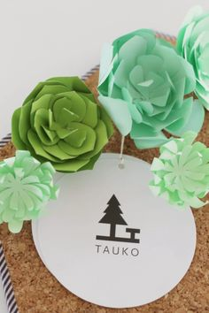 Paper succulents. Template by Lia Griffith
