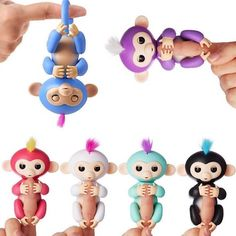 6 Color Fingerlings Interactive Baby Monkeys Smart Colorful Fingers Llings Smart Induction Toys Best Gifts For Kids Baby Monkey Pet, Toy Monkey, Cute Monkey, Pet Toys, Baby Toys, Kids Toys, Cool Gifts For Kids, Birthday Gifts For Kids, Fingerlings Monkey