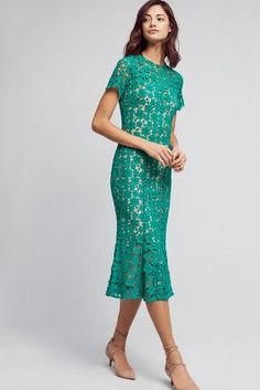 Symphony Lace Midi Dress | Anthropologie
