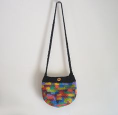 Small Chunky Crochet Cross Body Bag Hobo Bag Sling by 2LeftHandz, $20.00